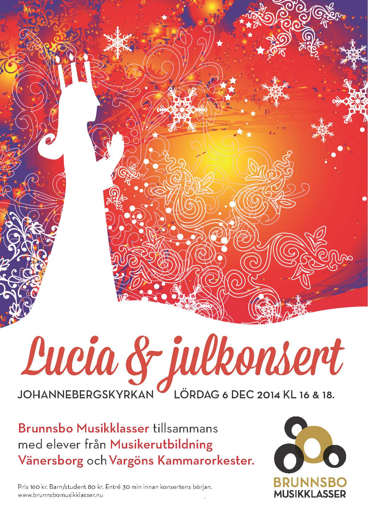 Luciaaffisch 2014 Brunnsbo